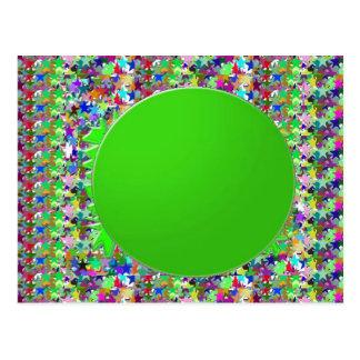 Plantilla elegante del disco verde: Añada los salu Postal