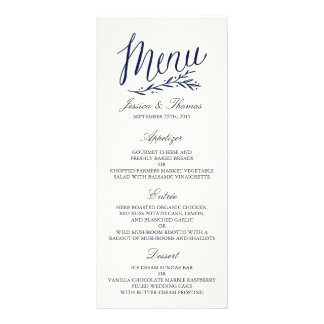 Plantilla elegante del menú del boda de la marina