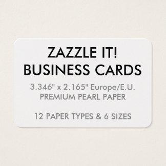 Plantilla en blanco personalizada personalizado de tarjeta de visita