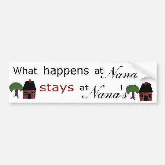 Plantilla: En qué sucede en… las estancias…. Pegatina Para Coche