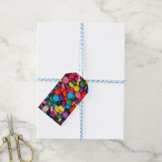 Plantilla encajonada caramelo de la textura de los etiquetas para regalos
