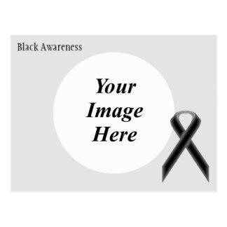 Plantilla estándar negra de la cinta postal