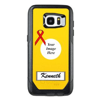 Plantilla estándar roja de la cinta de Kenneth Funda OtterBox Para Samsung Galaxy S7 Edge