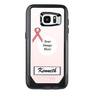 Plantilla estándar rosada de la cinta de Kenneth Funda OtterBox Para Samsung Galaxy S7 Edge
