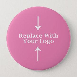 Plantilla femenina rosada del botón del logotipo