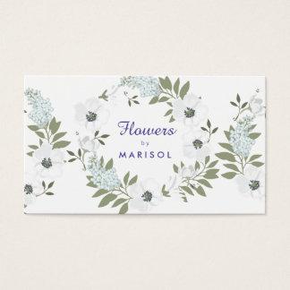 Plantilla floral de la tarjeta de visita del