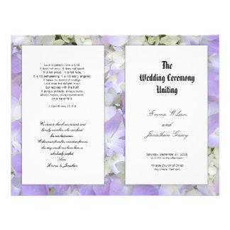 Plantilla floral del programa del boda de la folleto 21,6 x 28 cm