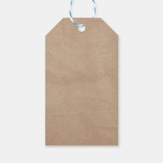 Plantilla - fondo de la bolsa de papel etiquetas para regalos