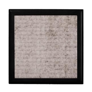 Plantilla francesa del documento de información caja de recuerdo