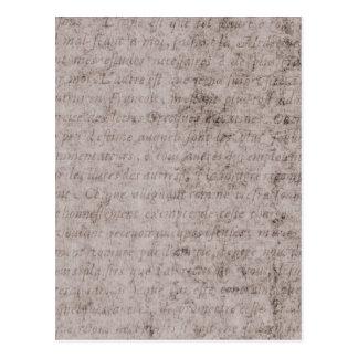 Plantilla francesa del documento de información postal