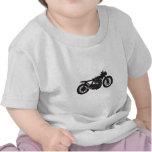 Plantilla fresca del vintage de la motocicleta del camisetas