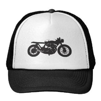 Plantilla fresca del vintage de la motocicleta del gorro
