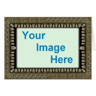 Plantilla - frontera colorida decorativa del marco tarjeta de felicitación
