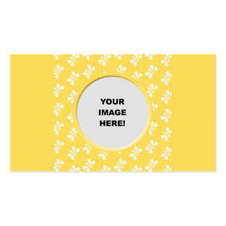 Plantilla, frontera de la abeja tarjetas de visita