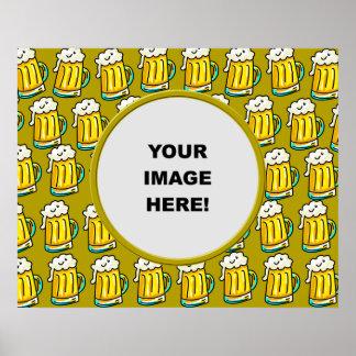 Plantilla, frontera de la cerveza póster