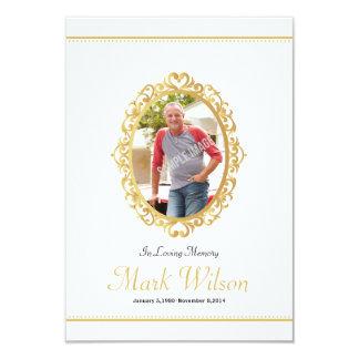 Plantilla fúnebre conmemorativa de la tarjeta de invitación 8,9 x 12,7 cm