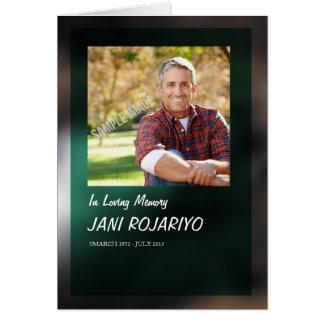 Plantilla fúnebre conmemorativa del programa tarjeta de felicitación
