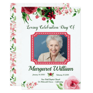 Plantilla fúnebre floral de la tarjeta de programa