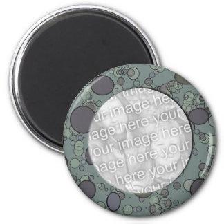 plantilla gris del marco del círculo imán