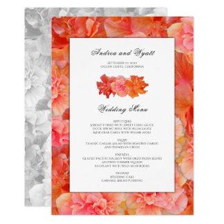 Plantilla hawaiana del menú del boda del hibisco invitación 12,7 x 17,8 cm