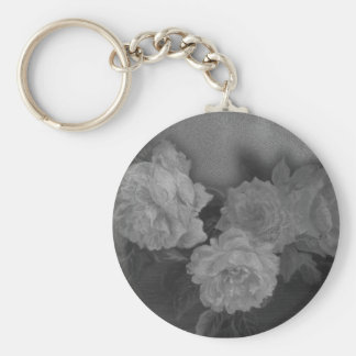 Plantilla ilustrada del personalizado de los rosas llavero redondo tipo chapa