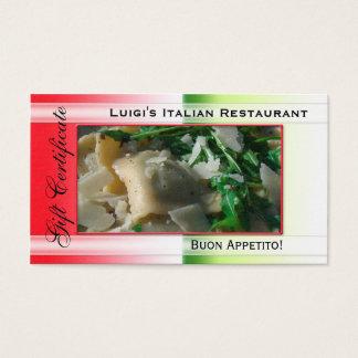 Plantilla italiana del vale del restaurante