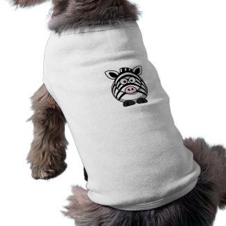 Plantilla linda de la cebra del dibujo animado camiseta sin mangas para perro