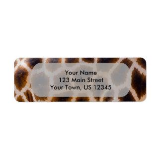 Plantilla manchada remiendos de la textura de la etiqueta de remite