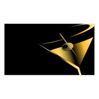 Plantilla Martini de las tarjetas de visita del