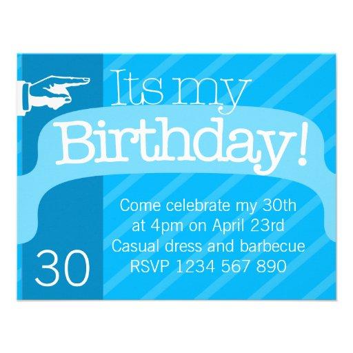 Plantilla moderna de la invitación del cumpleaños