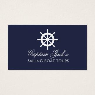 Plantilla náutica de la tarjeta de visita de la