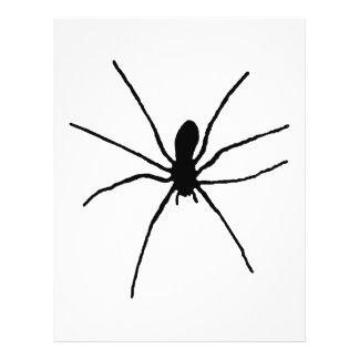 Plantilla negra de la araña tarjetas informativas