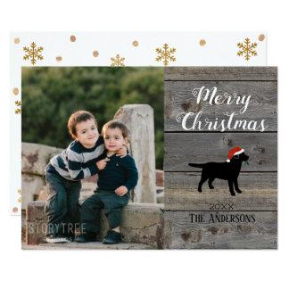 Plantilla negra de la tarjeta de Navidad de