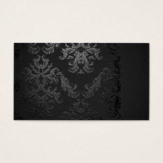 Plantilla negra elegante de la tarjeta de visita