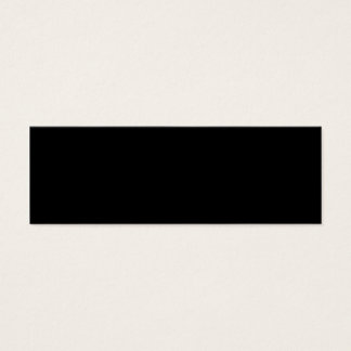 Plantilla negra tarjeta de visita pequeña