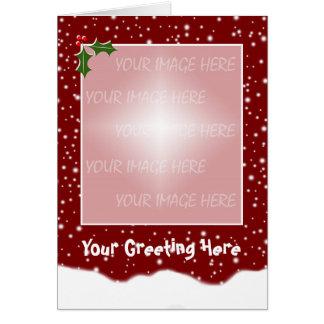 Plantilla Nevado de la tarjeta de Navidad -