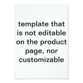 plantilla, no personalizar capaz, no editable en invitación 12,7 x 17,8 cm