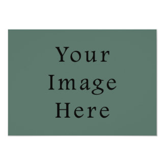 Plantilla oscura de la tendencia del color verde invitación 12,7 x 17,8 cm