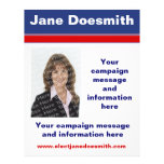 Plantilla política del aviador de la campaña elect flyer a todo color