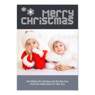 Plantilla punteada moderna de la foto del navidad invitación 12,7 x 17,8 cm