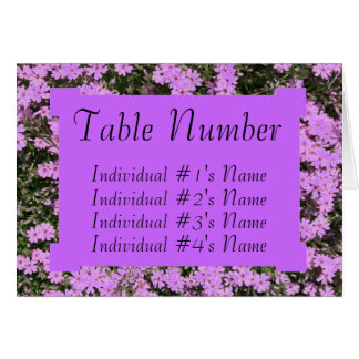 Plantilla púrpura de la tarjeta del lugar de la ta