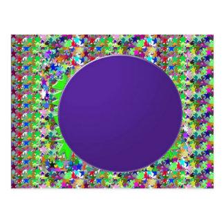 Plantilla púrpura elegante del disco: Añada el tex Postales