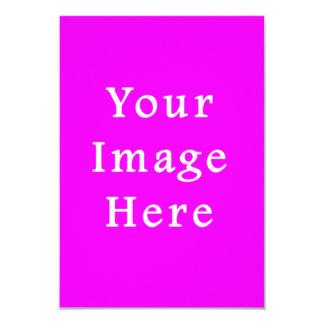 Plantilla púrpura violeta de neón del espacio en invitación 8,9 x 12,7 cm