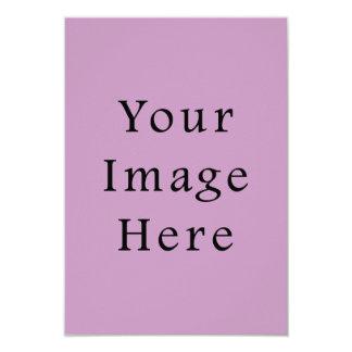 Plantilla púrpura violeta del espacio en blanco de invitación 8,9 x 12,7 cm