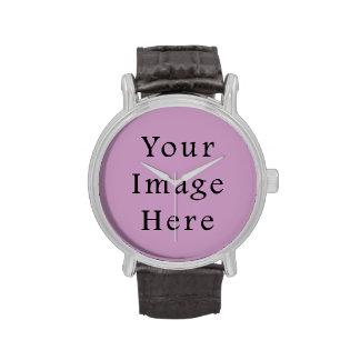 Plantilla púrpura violeta del espacio en blanco de reloj