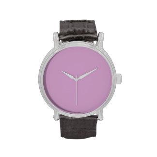 Plantilla púrpura violeta del espacio en blanco de reloj de mano