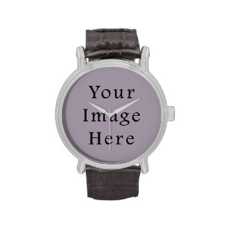 Plantilla purpúrea clara violeta de la tendencia relojes de pulsera