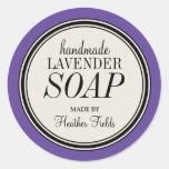 Plantilla redonda del jabón de la lavanda del marc