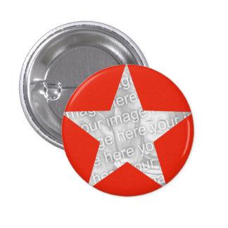 Plantilla roja de la foto de la estrella pins