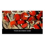 Plantilla roja de la tarjeta de visita de los mari